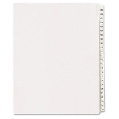 Uncollated Exhibit 1-100 10th Cut Index Tabs (25 Pack