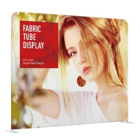 10' EZ Tube Straight Double-Sided Graphic Package