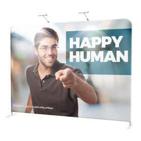 8' EZ Tube Straight Fabric Double-Sided Graphic Package